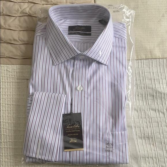 Tasso Elba Stripe Dress Shirt French Cuff NWT
